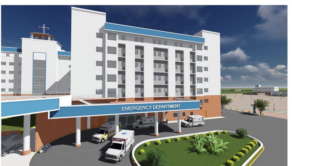 Architects view of the new emergency department at Kannigapuram CMC Vellore