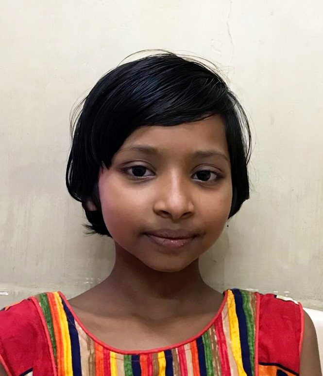 Yatri after her surgery, a young girl from north india